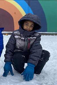 boy in winter clothing
