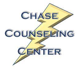 Image of a lightning bolt with the words Chase Counseling center in front