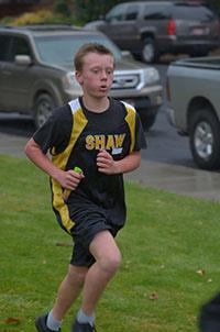 Image of student running