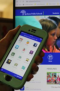 cellphone with sps app showing
