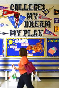 wall display: college my dream my plan