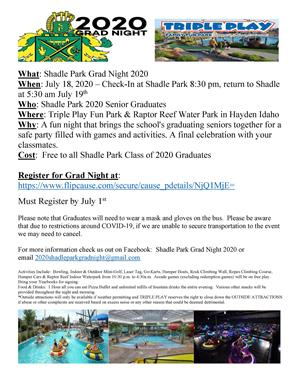 SP Grad Night Flyer