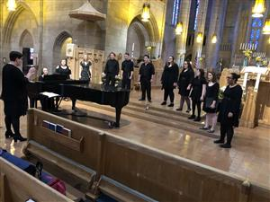 Performing in St. John's Cathedral