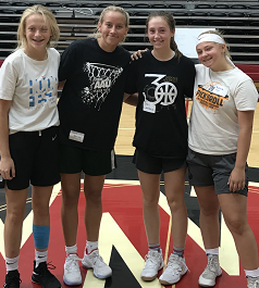 SP players at 2019 Whitworth Basketball camp