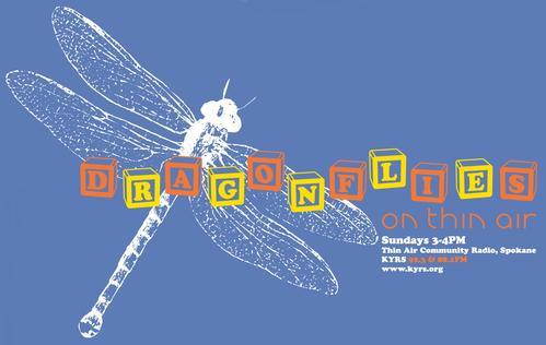 dragonflies logo with title text