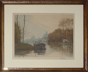 Houseboat on the Moret