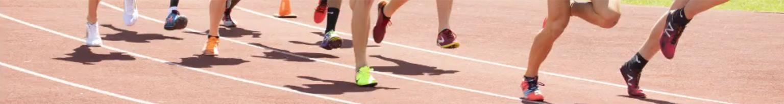 feet running on track