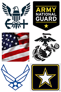 logos of all military branches